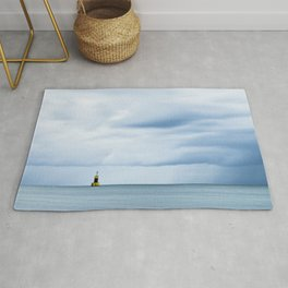 Sea, Lighthouse & Stormy clouds Rug