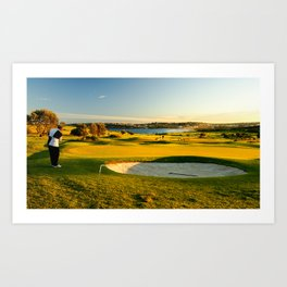 Chipping Onto The Green, Long Reef Golf Course, Sydney Art Print