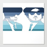blues brothers Canvas Prints featuring Blues Brothers (Tribute) by Kerosene Bill
