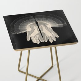 X-Ray of Vintage Gloves (square) Side Table