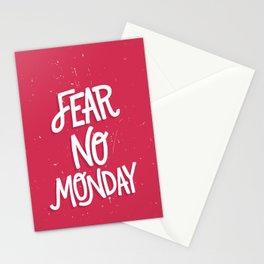Fear No Monday Stationery Cards