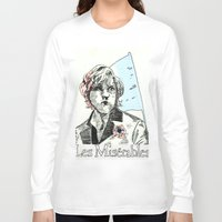 les mis Long Sleeve T-shirts featuring Enjolras Les Mis Poster by Pruoviare