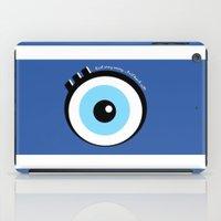 evil eye iPad Cases featuring Evil Eye by Monica Barela-Di Bisceglie
