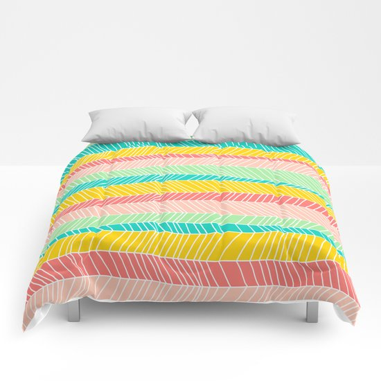 Beach Stripe (Vintage Candy) Comforters