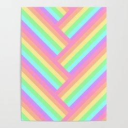 Woven Rainbow Poster