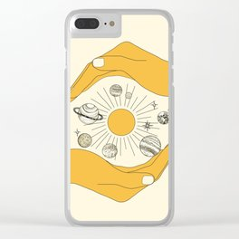 The Universe in Your Hands Clear iPhone Case