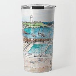 Wollongong Beach Landscape Travel Mug