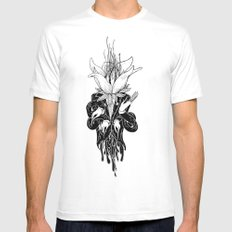 To Blosom White Mens Fitted Tee MEDIUM