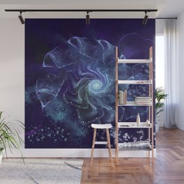 Midnight Lace Mixed Media Wall Mural