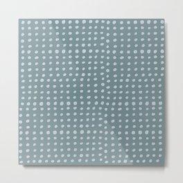 Slate x Dots Metal Print