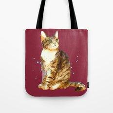 Cute Tabby Cat Tote Bag