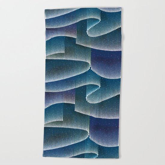 Aurora Borealis_Color Sky Lights Beach Towel