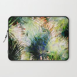 Modern palm leaves tropical abstract design Laptop Sleeve
