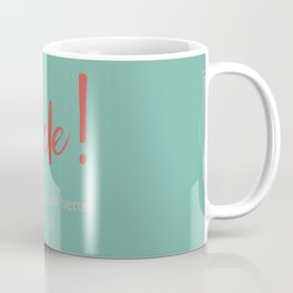 Merde - Shit always sounds better in french - funny, fun Illustration Coffee Mug