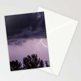Lightning storm in the mountains Stationery Cards