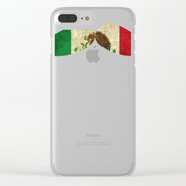 Mexican Design Mexican Flag Moustache Design For Mexican Pride Clear iPhone Case