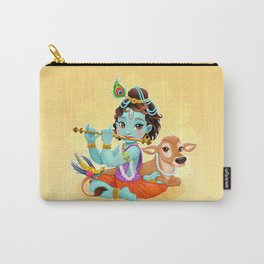 Baby Krishna with sacred cow Carry-All Pouch