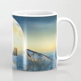 Bottle Ship in trouble Coffee Mug