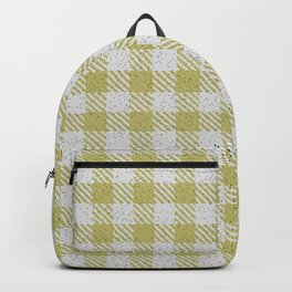 Dark Khaki Buffalo Plaid Backpack