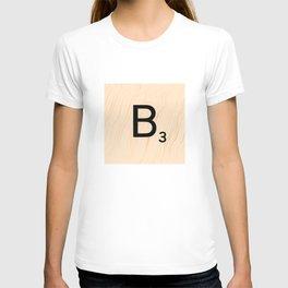 Scrabble Letter B - Large Scrabble Tiles T-shirt