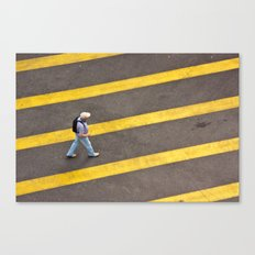 Cross the lines Canvas Print