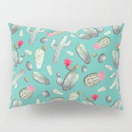 Cactus Pattern   Cacti Print Hot Pink onTeal Pillow Sham