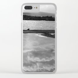 Sea-ing Gray Clear iPhone Case