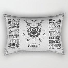 Legend of Zelda - The Hylian Shield Foundry Rectangular Pillow