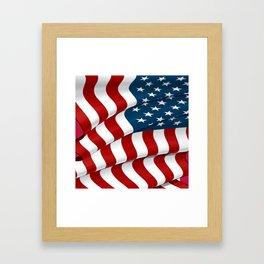 WAVY AMERICAN FLAG JULY 4TH ART Framed Art Print