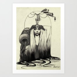 A Q U A R I U S Black and White Edition Art Print