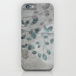 Pale moon mixed media illustration iPhone Case