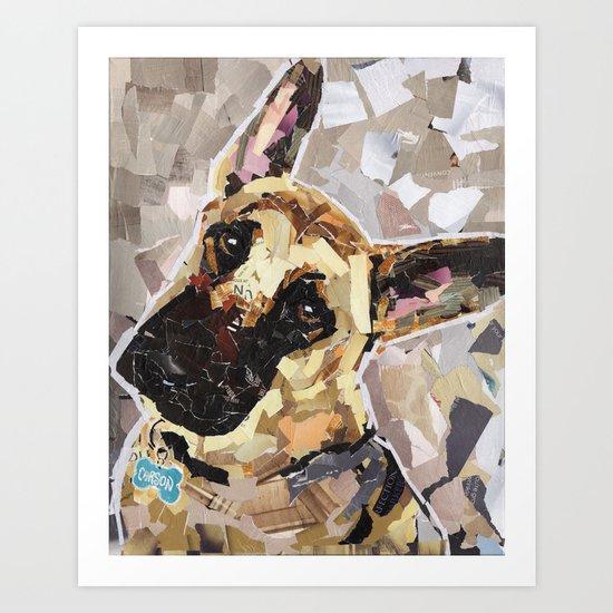 Carson- The German Shepherd Art Print