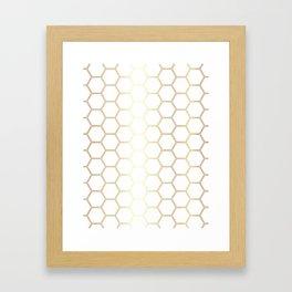 Honeycomb - Gold #170 Framed Art Print