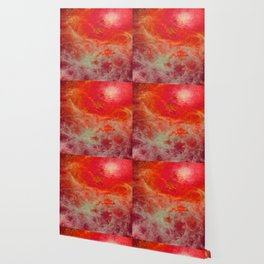 Red Orange Nebula : Galaxy Space Wallpaper