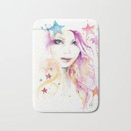 Galaxy Woman Bath Mat