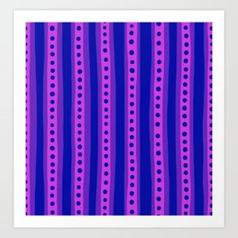 Stripes in pink and purple Art Print