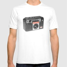 Retro Camera MEDIUM Mens Fitted Tee White
