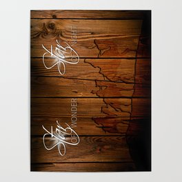 3 Kings on Wood Poster