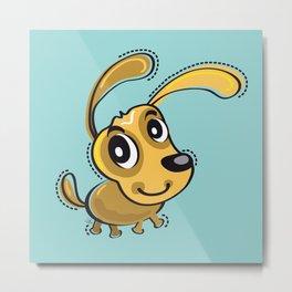 Happy Brown Dog Smilling Metal Print