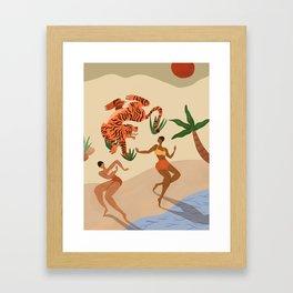 Dancing with Tiger Framed Art Print