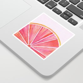Sunny Grapefruit Watercolor Sticker