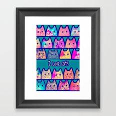 cat-50 Framed Art Print