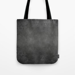 Black Faux Concrete Stone Texture Industrial Art Tote Bag