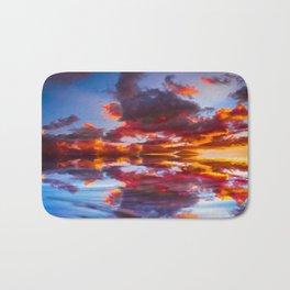 Abstract Sunset Bath Mat