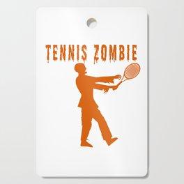 Funny Halloween Tennis Zombie Cutting Board