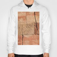 geology Hoodies featuring Ancient Sandstone Wall by Phil Smyth