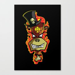 Trick Monkey - Voodoo Witch Doctor Canvas Print