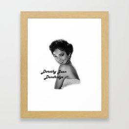 Diva Legacy Dorothy Jean Dandridge Framed Art Print