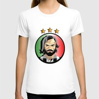 pirlo T-shirts featuring Maestro  by Miguel Angel Illustrations