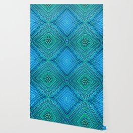 Abstract #9 - IX - Blues & Greens Wallpaper